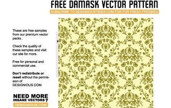 Damask seamless pattern - vector gratuit #170179