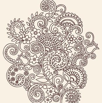 Vintage Linen Art Floral Ornament - Free vector #170439