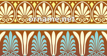 Greek Ornamental Pattern Borders - vector gratuit #170449