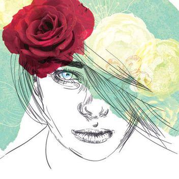 Creative Floral Girl Art - Free vector #170539