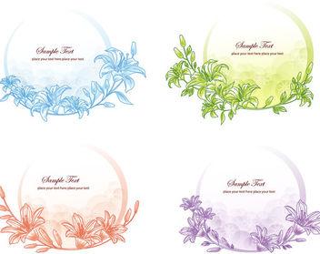 Simplistic Floristic Frame Circular Banner Pack - vector #170669 gratis