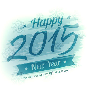 Paint Stain Covered 2015 New Year Greeting - vector gratuit #170719