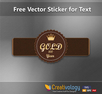 Leathery Abstract Label Template - Free vector #170899