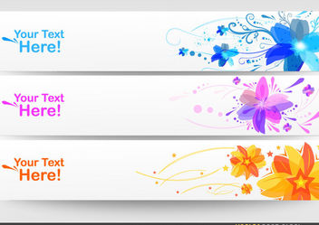 Floral Banner Set - Kostenloses vector #170919