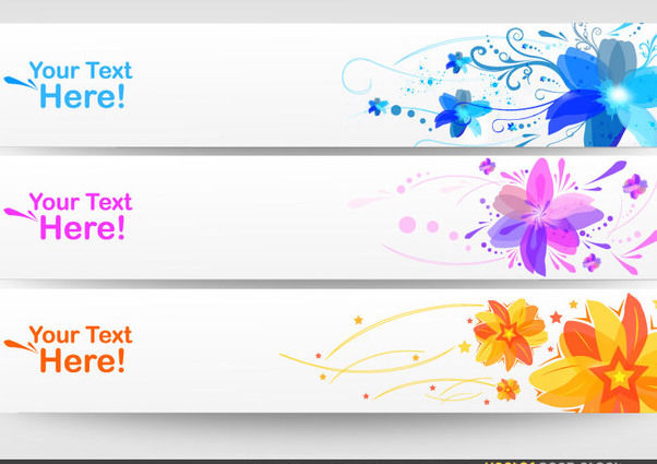 Floral Banner Set - vector #170919 gratis