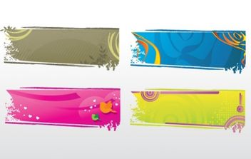 Banners collection - vector gratuit #171399