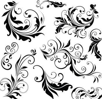 Simple Floral Ornament Set - Free vector #171489