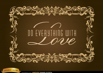 Elegant frame for inspirational label - Free vector #171669