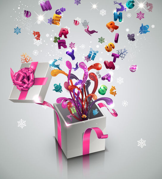 3D New Year & Celebration Gift Box - vector #171769 gratis