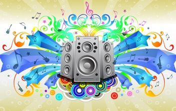 Rainbow Musical Flyer Layout - Free vector #171889