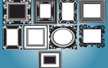 Vintage Black & White Frame Pack - Free vector #172039