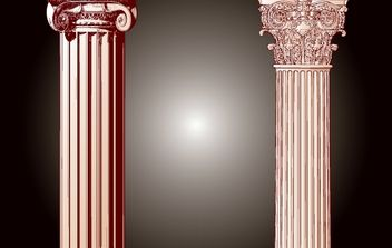 Vintage Building Pillar Vector - бесплатный vector #172069