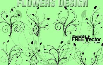 Vector Floral Design - бесплатный vector #172209