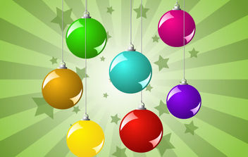 Christmas Balls Background - Free vector #172239