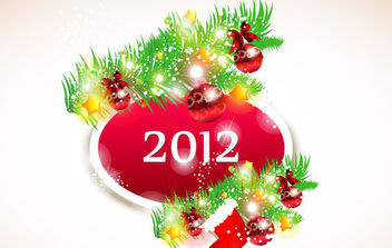 New Year 2012 2 - vector gratuit #172249