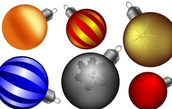Christmas ball collection - Free vector #172469