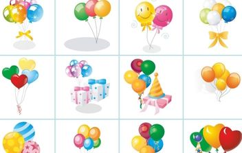 Balloon Set - Free vector #172479
