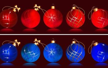 030-Christmas Balls - Free vector #172489
