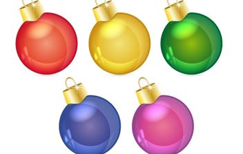 christmas balls - vector gratuit #172509