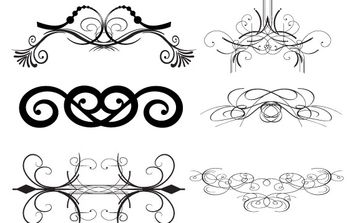 Decorative Elements Pack - бесплатный vector #172569