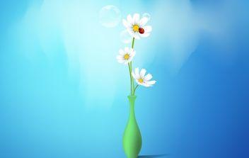 Spring Flowers Vase - Free vector #172659