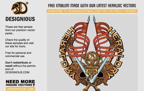 Free vector heraldic emblem - Kostenloses vector #172709
