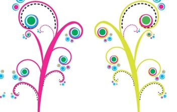 Colorful Swirls Vectors - vector #172779 gratis