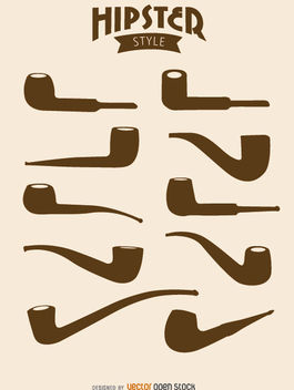 Hipster pipes - vector gratuit #172889