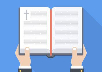 Minimal Open Bible on Hands - Free vector #172929