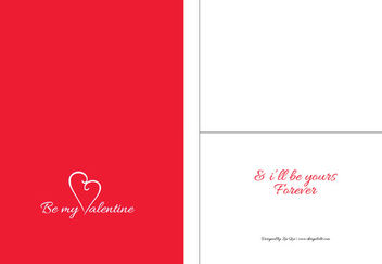 Beautiful Valentine Card Mockup Template - Free vector #173029