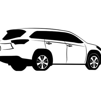 Toyota Highlander Sketch - Free vector #173189