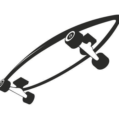 Black & White Roller Skateboard Sketch - vector gratuit(e) #173209