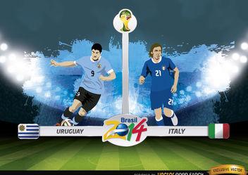 Uruguay vs. Italy match Brazil 2014 - Kostenloses vector #173399