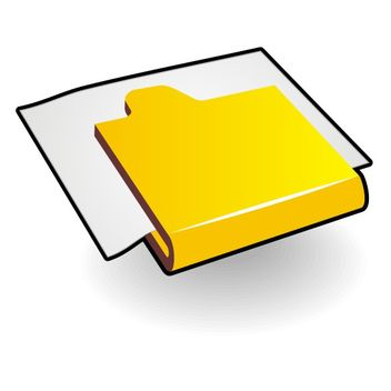 Folder with paper - vector gratuit #173499