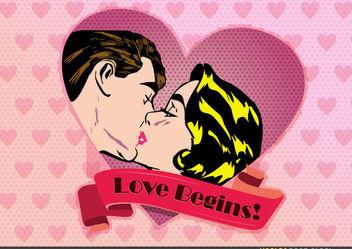 Vintage Valentine Design - Kostenloses vector #173529
