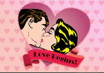 Vintage Valentine Design - Free vector #173529