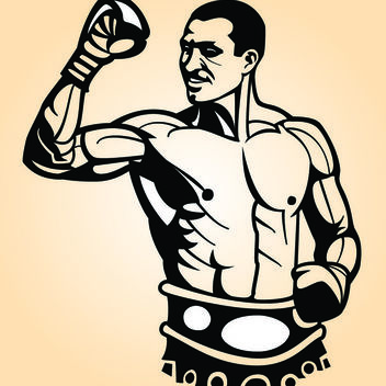 Sketchy Ukrainian Boxer Vladimir Klitschko - Free vector #173569