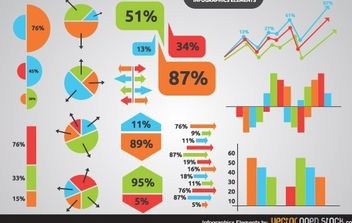 Infographics elements - vector #173649 gratis