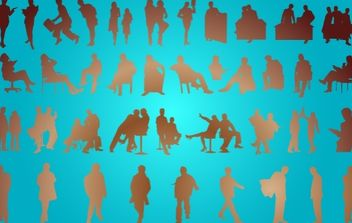 Corporate People Pack Silhouette - vector gratuit #173729