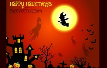 Reddish Halloween Layout - Free vector #173869