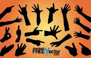 Hand Pack Silhouette - Free vector #173969