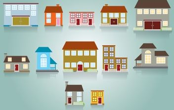 Residence House Pack - Free vector #174009
