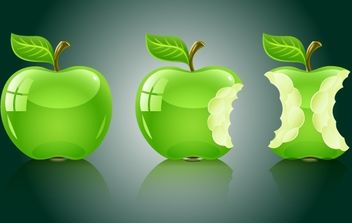 3D Apple Fruit Pack - Kostenloses vector #174199