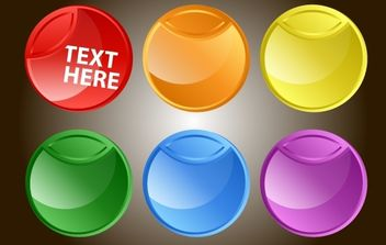 Fluorescent Rounded Button Pack - vector gratuit #174249