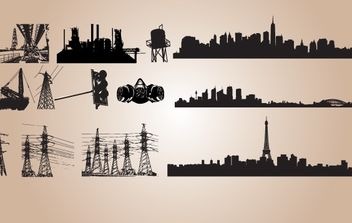 Silhouette Industrial Vector - Free vector #174279