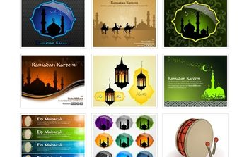 Islamic Greeting Card Template - vector gratuit #174319