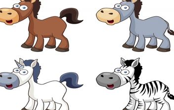 Cartoon horse vector icons - Free vector #174329
