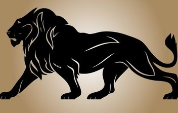 Silhouette Lion Vector - Free vector #174339
