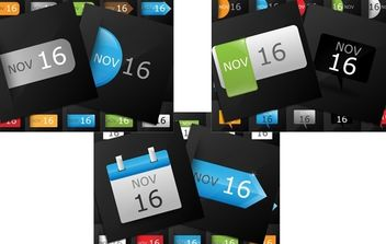 Date Calendar Icon Pack - vector gratuit #174359