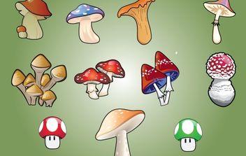 Vector Mushroom - Free vector #174379